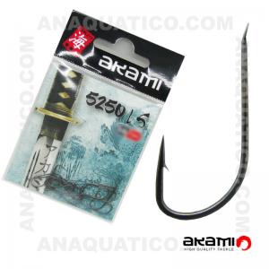 ANZOL AKAMI 5250 LS HIGH CARBON Nº 7 BLACK NICKEL C/ 20 PCS