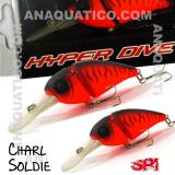 SPI CHARLIE SOLDIER FLOAT. 7CM  / 15GR MATTE RED TIGER