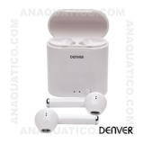 Auriculares Bluetooth V5.0 C/ Mic E Dock Carregamento DENVER