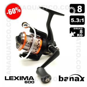 CARRETO BANAX LEXIMA 600 BB 8 / Drag 8Kg / R 5.3:1