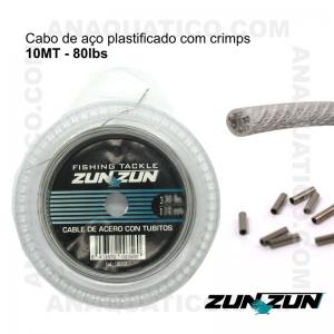 CABO DE AÇO PARA PESCA ZUN ZUN  - 10MT - 80lbs.