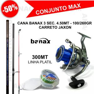 CONJUNTO PARA SURF CASTING CANA + CARRETO