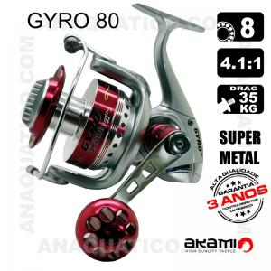 CARRETO GYRO 80 BB 8 / Drag 35Kg / R 4.1:1