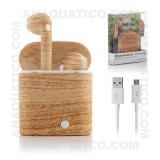 Auriculares Airpods Bluetooth V4.2 Estilo Madeira