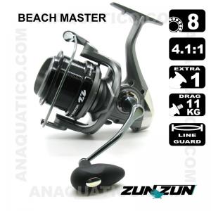 CARRETO ZUN ZUN BEACH MASTER BB 8 / Drag 11Kg / R 4.1:1