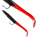 DELTA EEL 95MM BLACK  RED FIRE TAIL