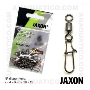 DESTORCEDOR JAXON ROLLING C/ ALFINETE AJ-KA103 COR PRETA - 10 PCS