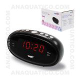 Relógio Despertador AM/FM Visor LED