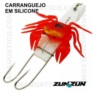 CARANGUEJO EM SILICONE ZUN ZUN COM CHUMBO
