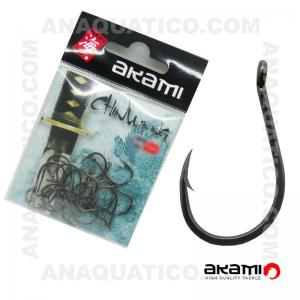 ANZOL AKAMI CHINU RING HIGH CARBON Nº 3/0 BLACK NICKEL C/ 20 PCS