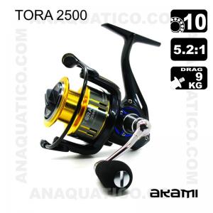 CARRETO AKAMI TORA BB 10 / Drag 9Kg / R 5.2:1