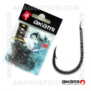 ANZOL AKAMI CHINU HIGH CARBON Nº 1  BLACK NICKEL C/ 20 PCS