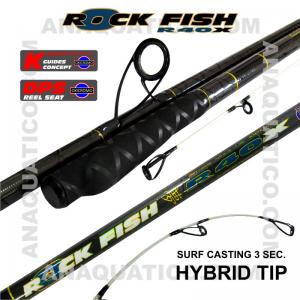 NBS ROCK FISH R40X SURF 3SEC. 4.5MT - 100/200GR - HÍBRIDA