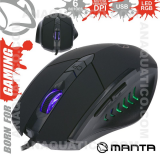 Rato Óptico 800/2400 Dpi USB P/ Gaming LED RGB MANTA