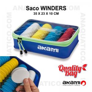 SACO COM DISCOS AKAMI WINDERS - 35 X 23 X 10 CM
