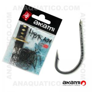 ANZOL AKAMI HBR421 HIGH CARBON Nº 1/0 BLACK NICKEL C/ 20 PCS