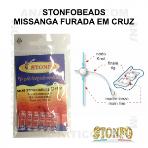 STONFO BEADS CROSS 3.3mm