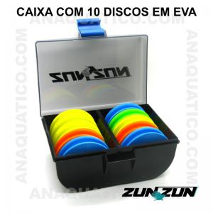 CAIXA ZUN ZUN CEC 10 COM 10 DISCOS EM EVA  - 10 X 15 X 7 CM