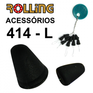 ROLLING TRAVÃO EM BORRACHA NºL  10 PCS