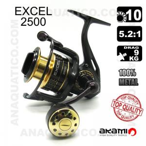 CARRETO AKAMI EXCEL 2500 BB 9 / Drag 9Kg / R 5.2:1