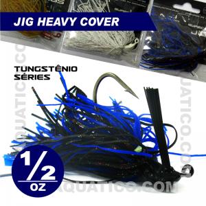 COYOTE JIG HEAVY COVER 1/2 OZ COR BLACK/BLUE